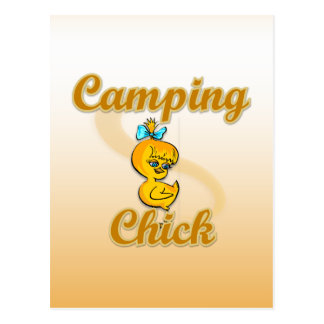 Camping Chick Postcard