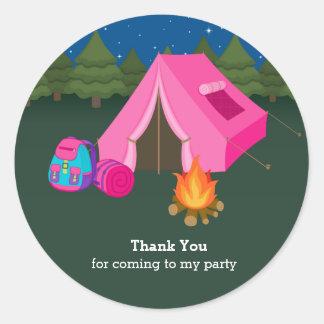 Camping Classic Round Sticker