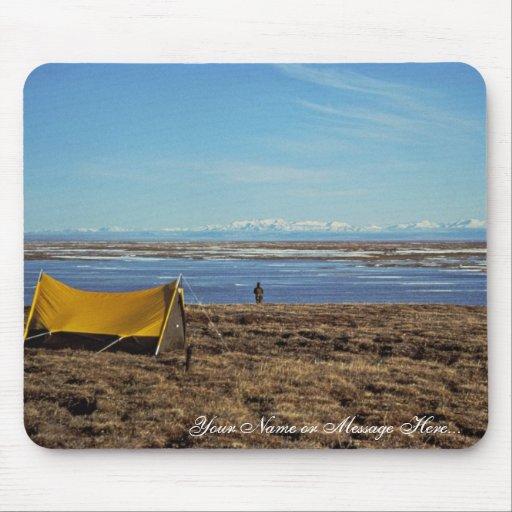 Camping Coastal Plains Mouse Pads