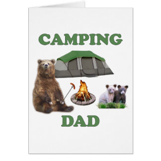 Camping Dad Bear Stationery Note Card