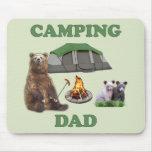 Camping Dad Bear Mouse Pad