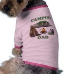 Camping Dad Bear Pet T Shirt