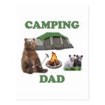 Camping Dad Bear Post Cards