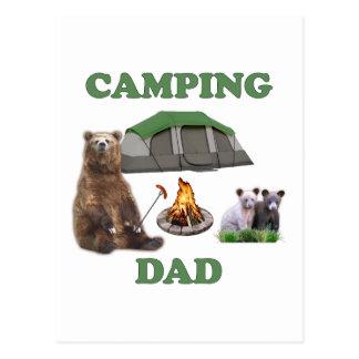 Camping Dad Bear Postcard