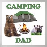 Camping Dad Bear Poster