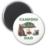 Camping Dad Bear Refrigerator Magnet
