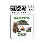 Camping Dad Bear Stamp