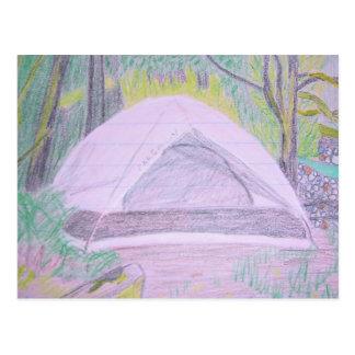 Camping Drawing Postcard