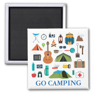 Camping Equipment 2 Inch Square Magnet