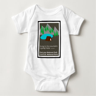 Camping Find your park old school ad design Baby Bodysuit