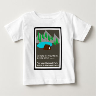 Camping Find your park old school ad design Baby T-Shirt