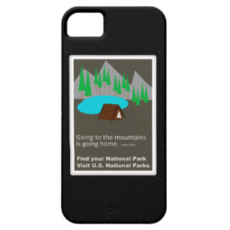 Camping Find your park old school ad design iPhone 5 Cases