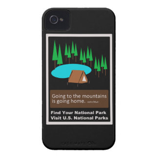 Camping Find your park old school ad design Case-Mate iPhone 4 Case