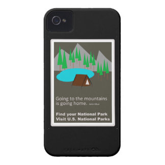 Camping Find your park old school ad design iPhone 4 Case-Mate Case