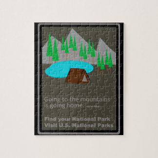 Camping Find your park old school ad design Jigsaw Puzzle