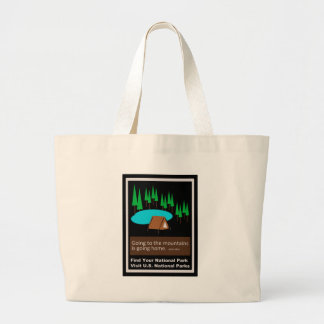 Camping Find your park old school ad design Large Tote Bag
