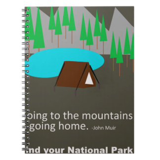 Camping Find your park old school ad design Notebook