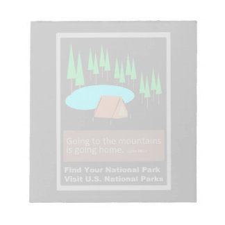 Camping Find your park old school ad design Notepad
