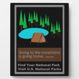 Camping Find your park old school ad design Plaque