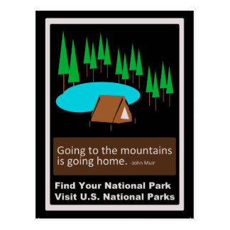 Camping Find your park old school ad design Postcard