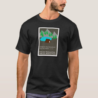 Camping Find your park old school ad design T-Shirt