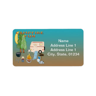 Camping Fun Address Labels
