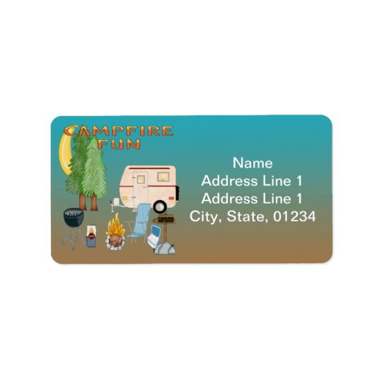 camping fun address labels zazzle com