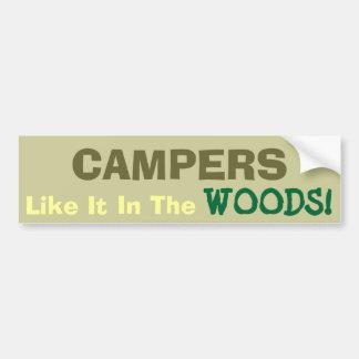 Camping Fun! Car Bumper Sticker