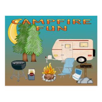 Camping Fun Postcard