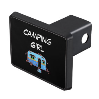 Camping Girl Trailer Hitch Cover