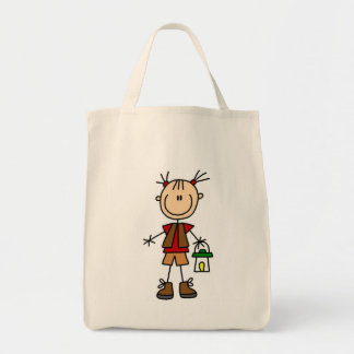 Camping Girl With Lantern Tshirts and Gifts Tote Bag