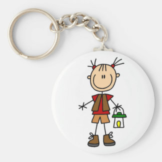 Camping Girl With Lantern Tshirts and Gifts Keychain