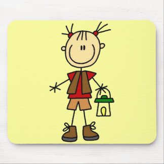 Camping Girl With Lantern Tshirts and Gifts Mousepad