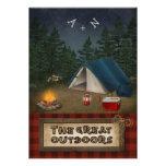 Camping, Glamping, Fishing, Nature Wedding Invite