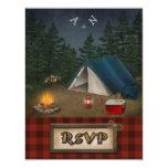 Camping Glamping Fishing Wedding RSVP Card