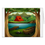 Camping ground card