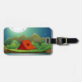 Camping ground luggage tag