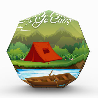 Camping ground with tent and boat award