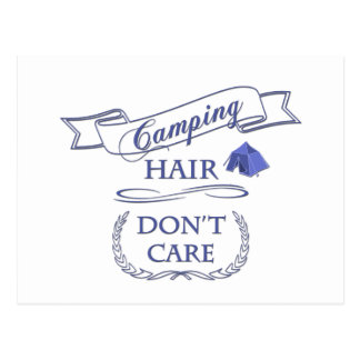 Camping Hair Don't Care Postcard