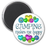 Camping Happiness Fridge Magnets