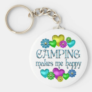 Camping Happiness Key Chains