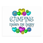 Camping Happiness Postcard