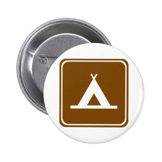 Camping Highway Sign Button