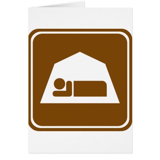Camping Highway Sign Card