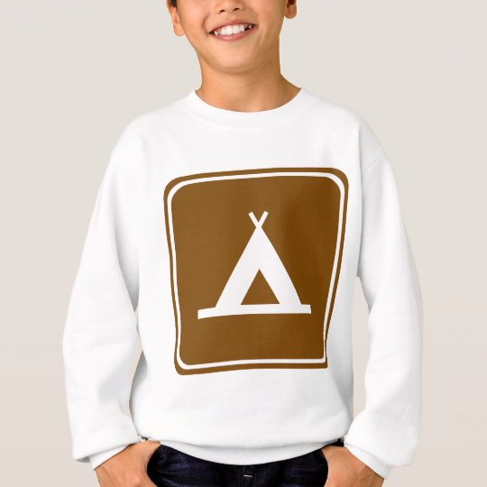 Camping Highway Sign Sweatshirt