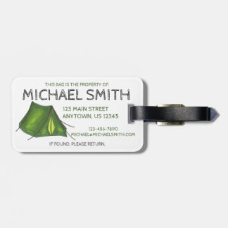 Camping Hiking Tent Camp Outdoors Luggage Tag