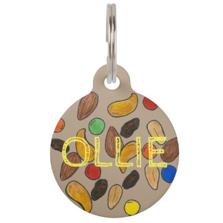Camping Hiking Trail Mix Nuts Foodie Pet Dog Tag
