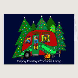 Camping Holiday Autism Charity Card