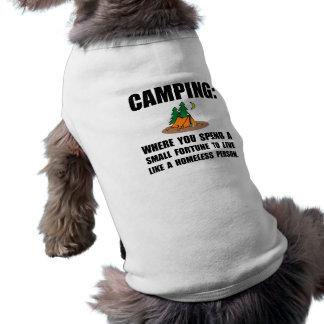 Camping Homeless Pet Tee Shirt