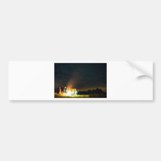 Camping in front of the Teton Range Bumper Sticker